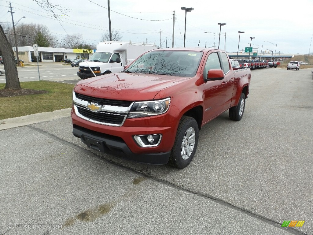2016 red rock metallic chevrolet colorado lt extended cab 4x4 111389471 car. Black Bedroom Furniture Sets. Home Design Ideas