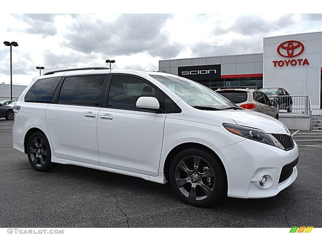 2015 super white toyota sienna se 111389300 car color galleries. Black Bedroom Furniture Sets. Home Design Ideas