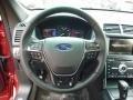 2016 Ford Explorer Ebony Black Interior Steering Wheel Photo