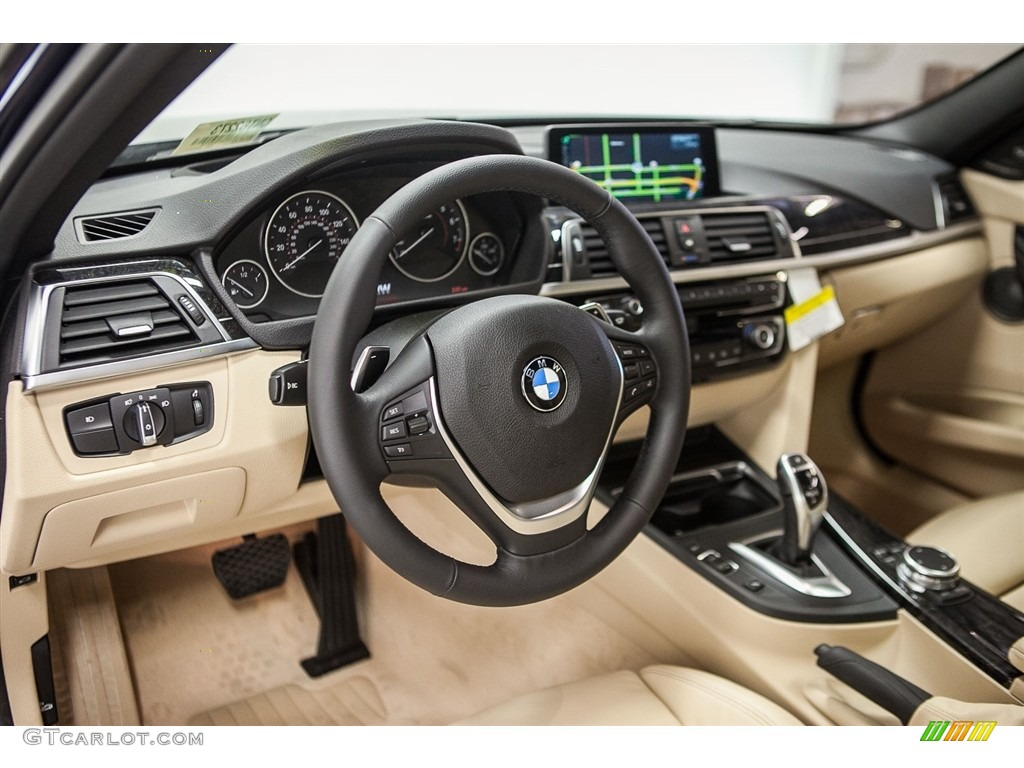 Venetian Beige Interior 2016 Bmw 3 Series 340i Sedan Photo