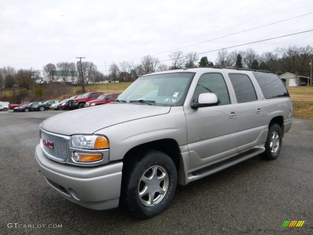 2005 yukon xl denali awd sand beige metallic stone gray photo 1