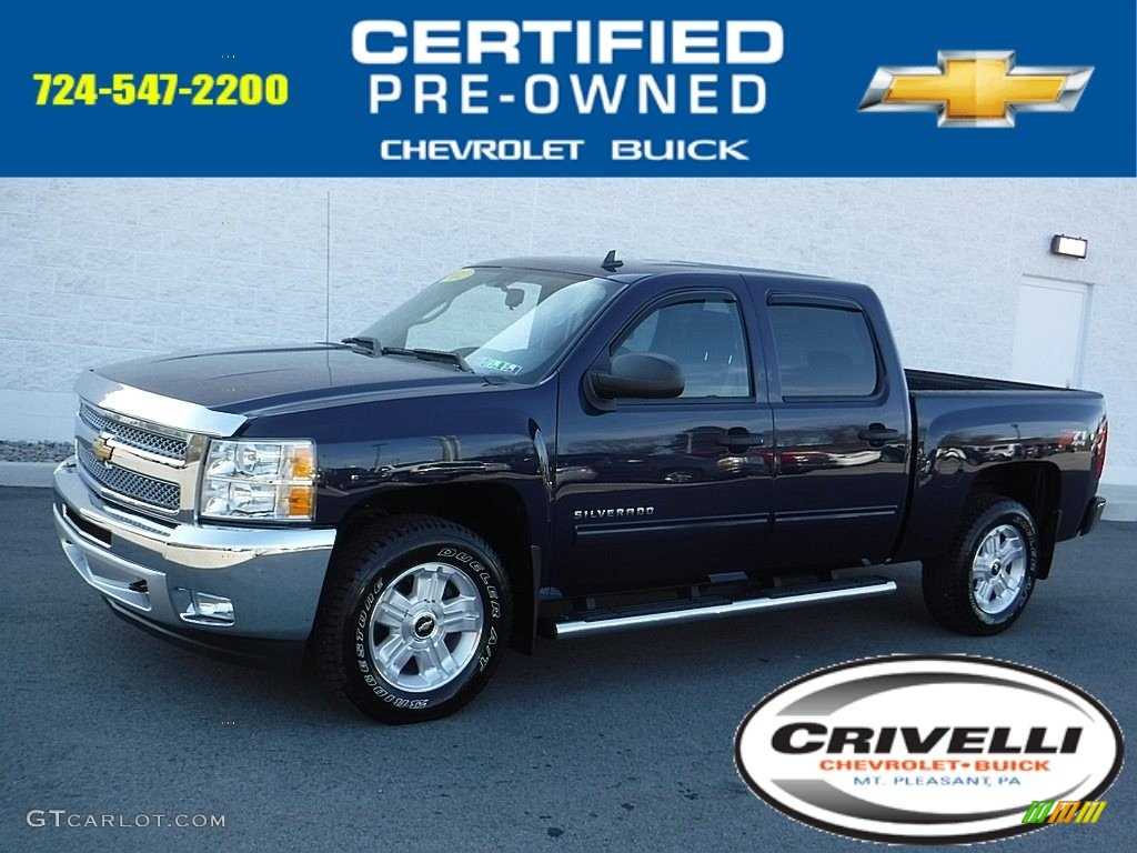 2012 Silverado 1500 LT Crew Cab 4x4 - Imperial Blue Metallic / Ebony photo #1