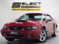 2002 Laser Red Metallic Ford Mustang GT Convertible  photo #1
