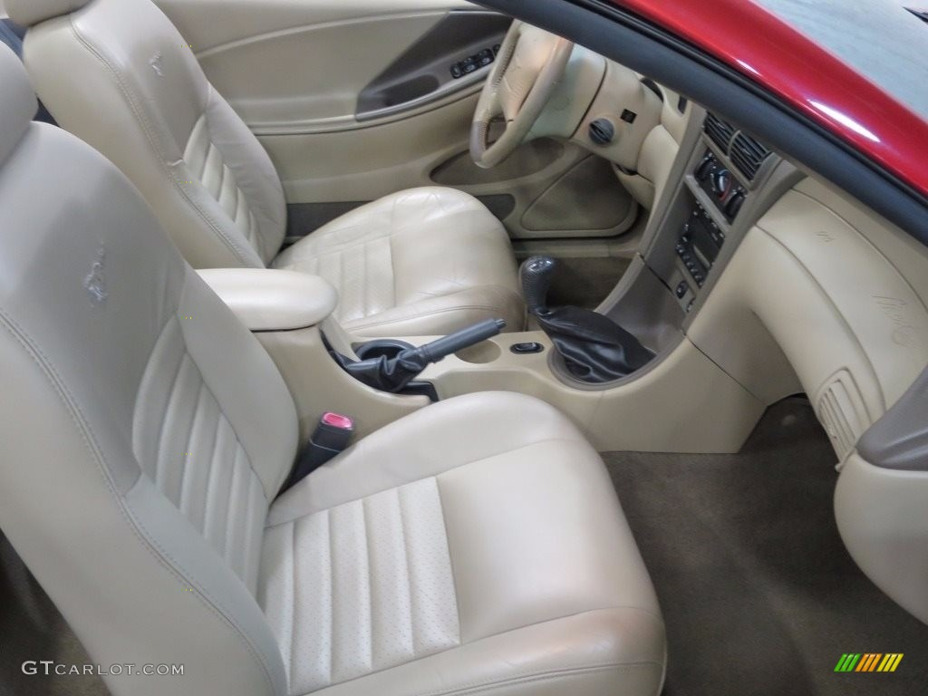 2002 Mustang GT Convertible - Laser Red Metallic / Medium Parchment photo #16