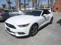 2015 Oxford White Ford Mustang V6 Convertible  photo #5