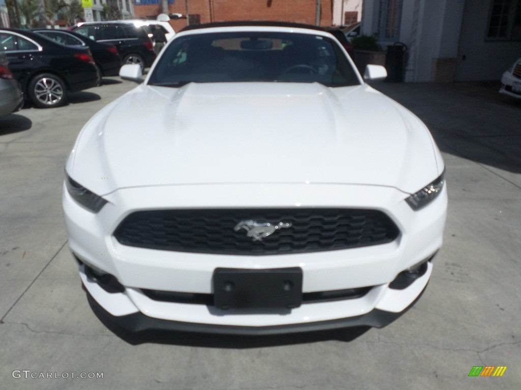 2015 Mustang V6 Convertible - Oxford White / Ebony photo #6