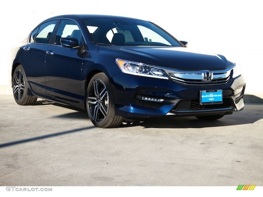 2016 obsidian blue pearl honda accord sport sedan 111462059 car color galleries. Black Bedroom Furniture Sets. Home Design Ideas