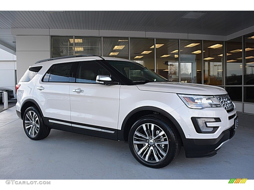 2016 Explorer Platinum 4wd White Metallic Tri Coat Medium Soft Ceramic