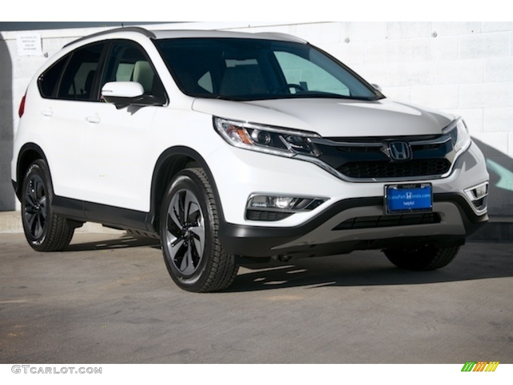 2016 white diamond pearl honda cr v touring 111462105 for Honda crv 2016 white