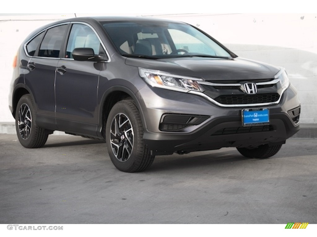2016 modern steel metallic honda cr v se 111462092 for Gray honda crv