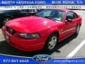 2004 Torch Red Ford Mustang V6 Coupe #111500805