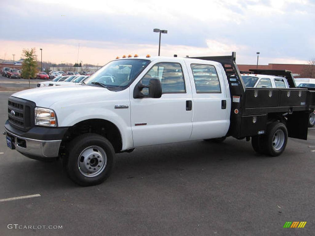 2007 oxford white ford f350 super duty crew cab chassis. Black Bedroom Furniture Sets. Home Design Ideas