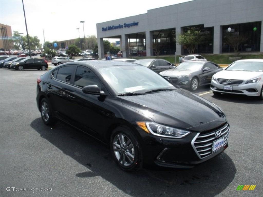 2017 Black Hyundai Elantra Se 111567373 Gtcarlot Com Car Color