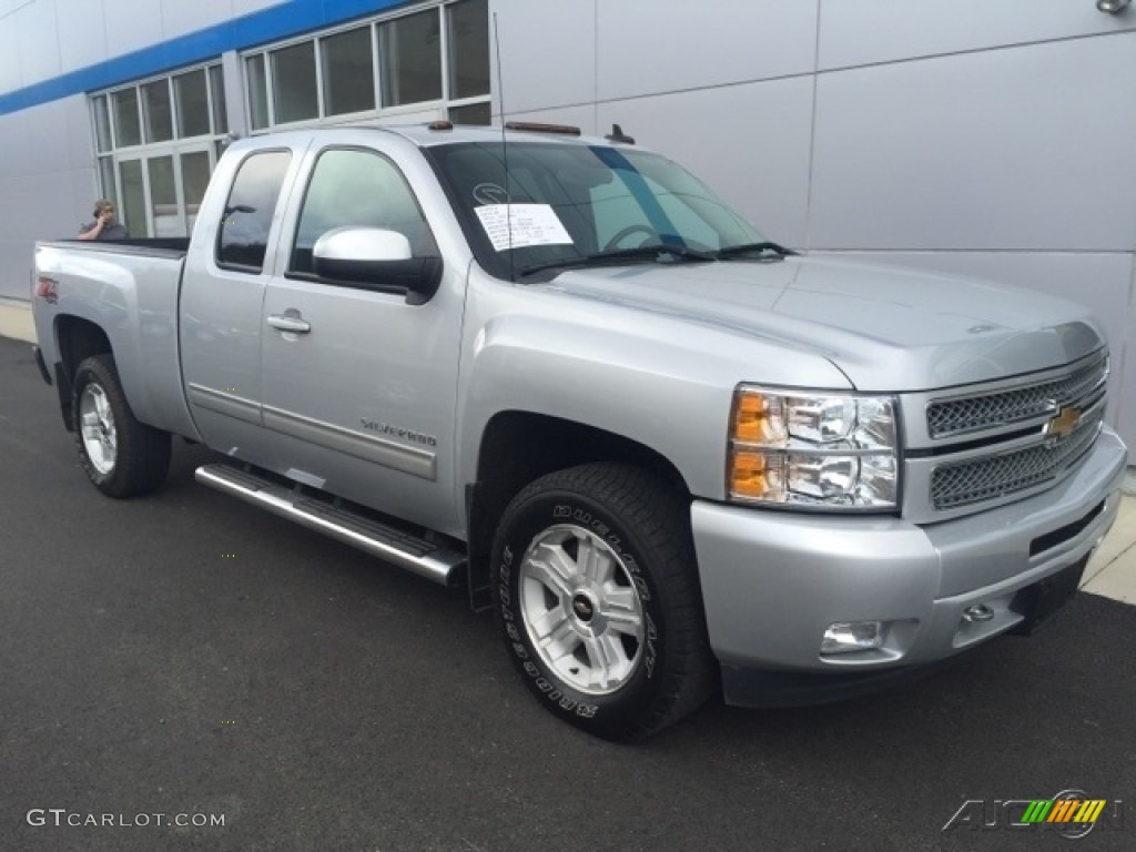2013 Silverado 1500 LTZ Extended Cab 4x4 - Silver Ice Metallic / Ebony photo #1