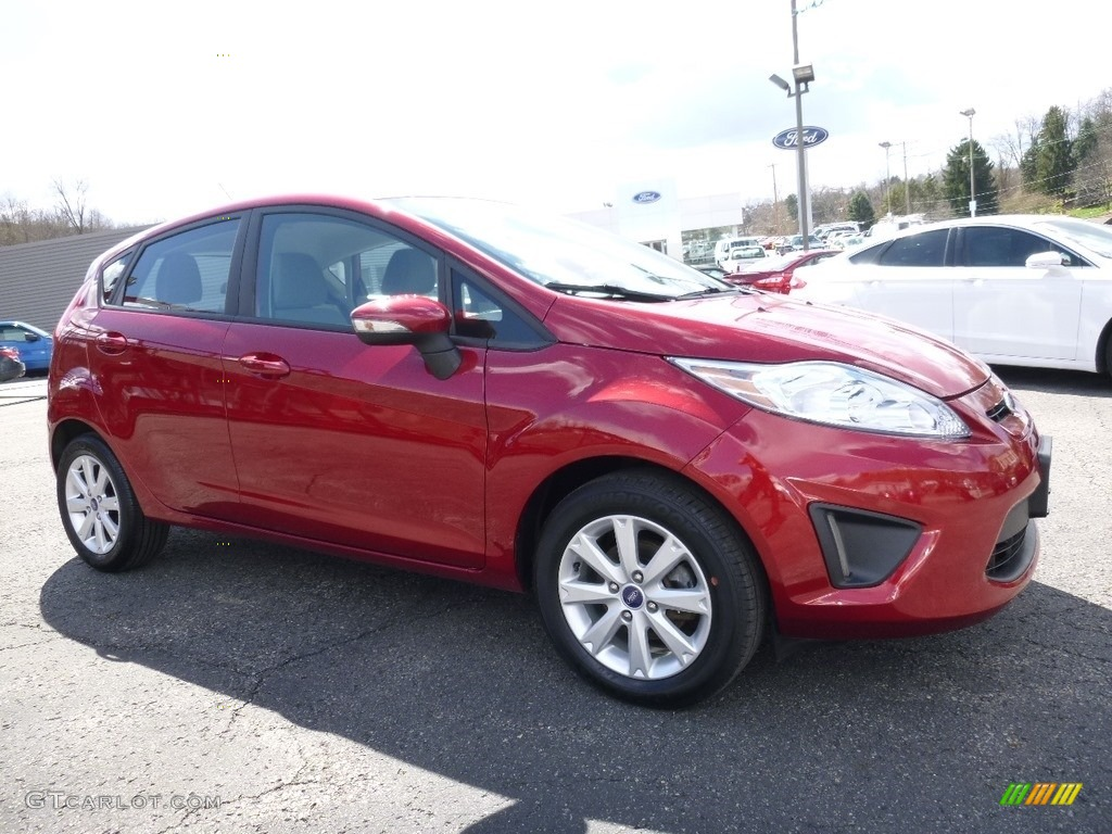 2013 Fiesta SE Hatchback - Ruby Red / Charcoal Black/Light Stone photo #1