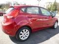 2013 Ruby Red Ford Fiesta SE Hatchback  photo #2