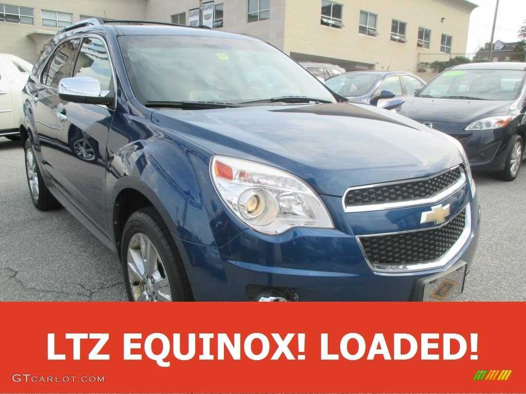 2010 Equinox LTZ AWD - Navy Blue Metallic / Jet Black/Light Titanium photo #1