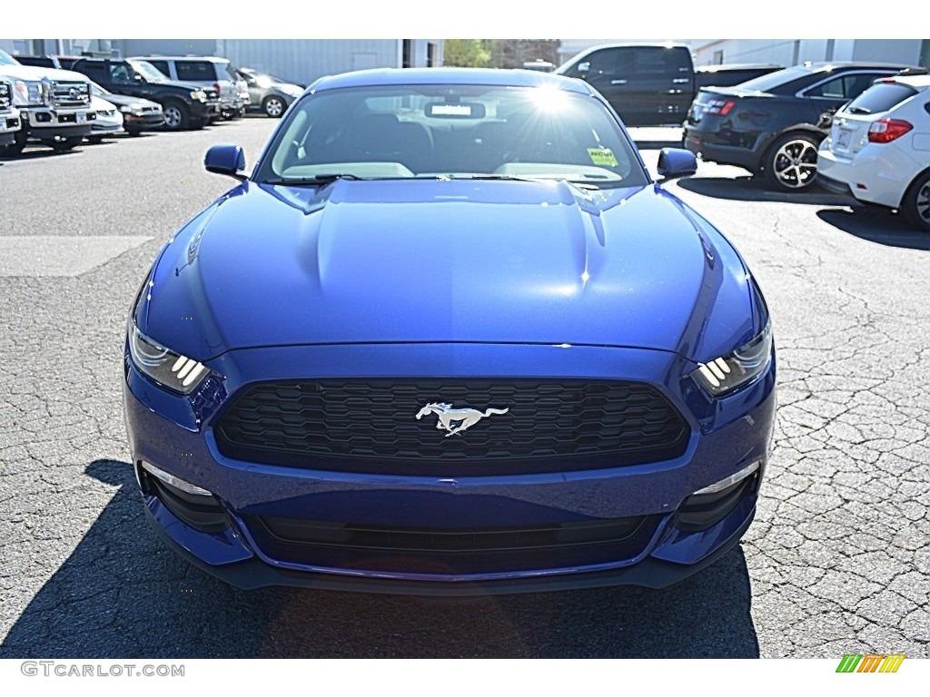2016 Mustang V6 Coupe - Deep Impact Blue Metallic / Ebony photo #4