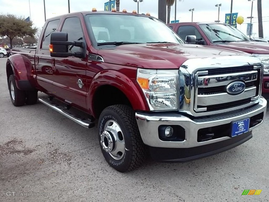 2016 ruby red metallic ford f350 super duty lariat crew. Black Bedroom Furniture Sets. Home Design Ideas