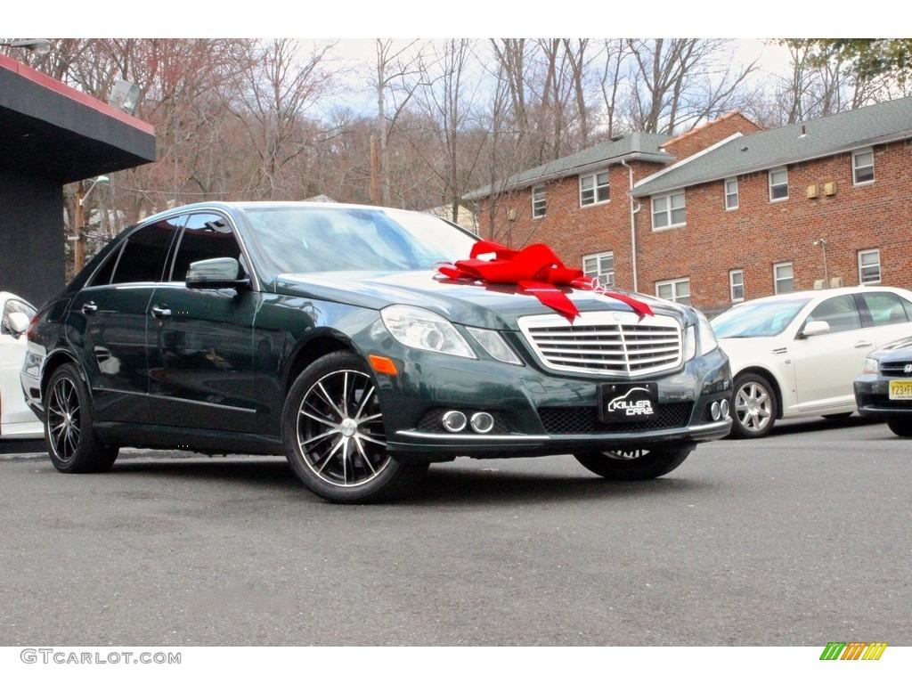 2010 jade green metallic mercedes benz e 350 4matic sedan for Mercedes benz green