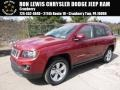 Deep Cherry Red Crystal Pearl 2016 Jeep Compass Latitude 4x4