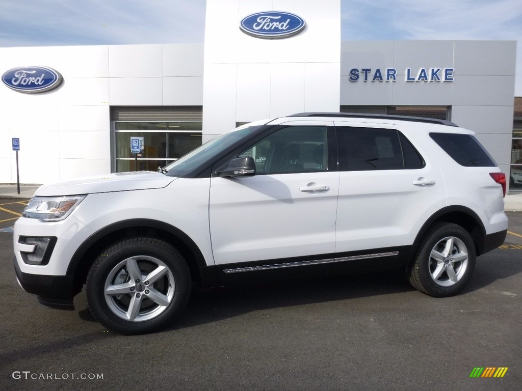 2016 Explorer XLT 4WD - Oxford White / Ebony Black photo #1
