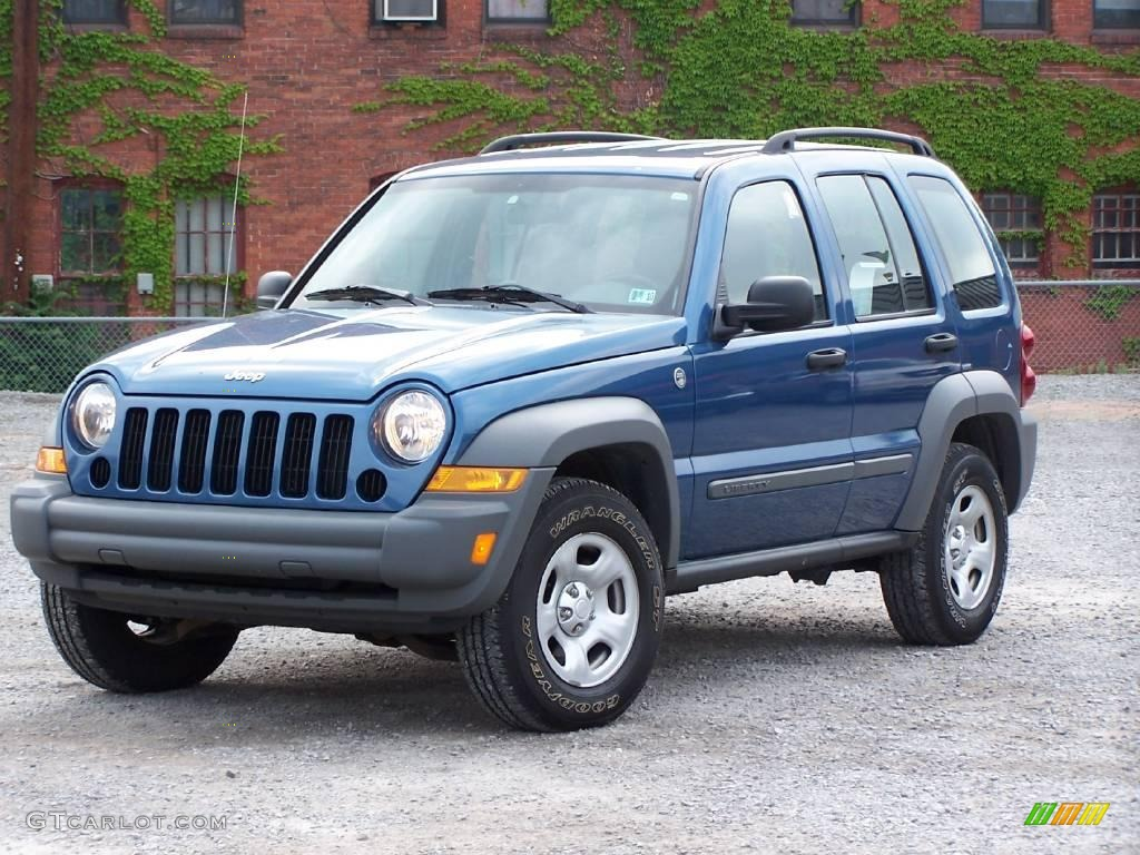 2006 atlantic blue pearl jeep liberty sport 4x4 #11169733 photo #4