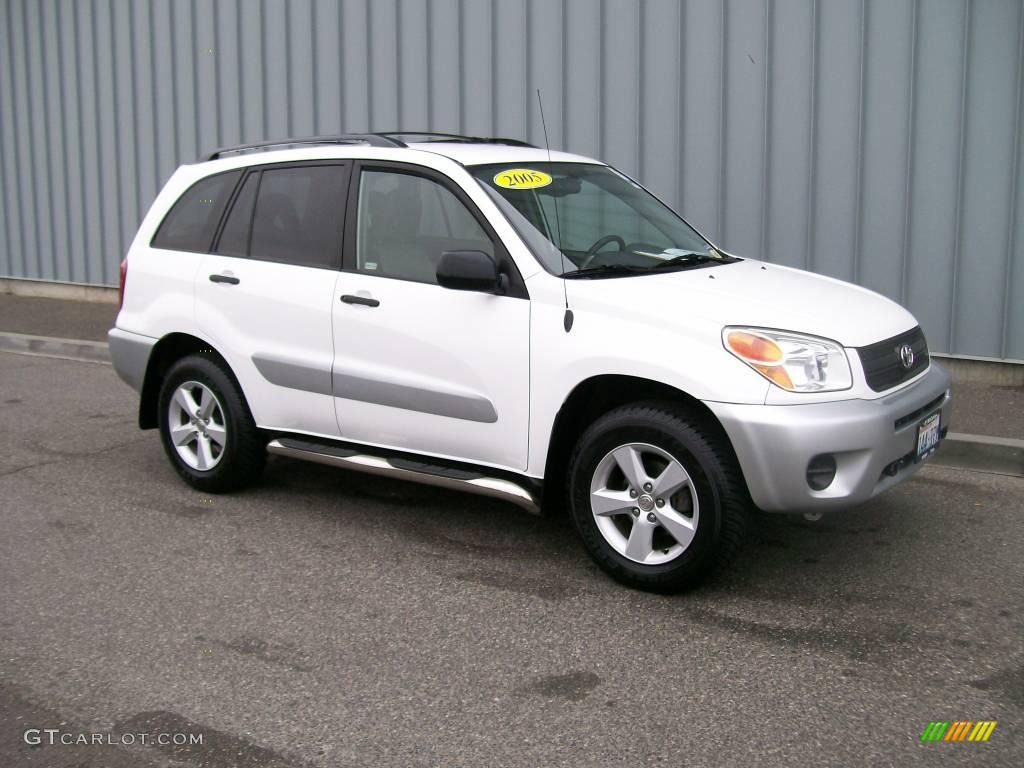 2005 super white toyota rav4 4wd 1106976 photo 3 car color galleries. Black Bedroom Furniture Sets. Home Design Ideas