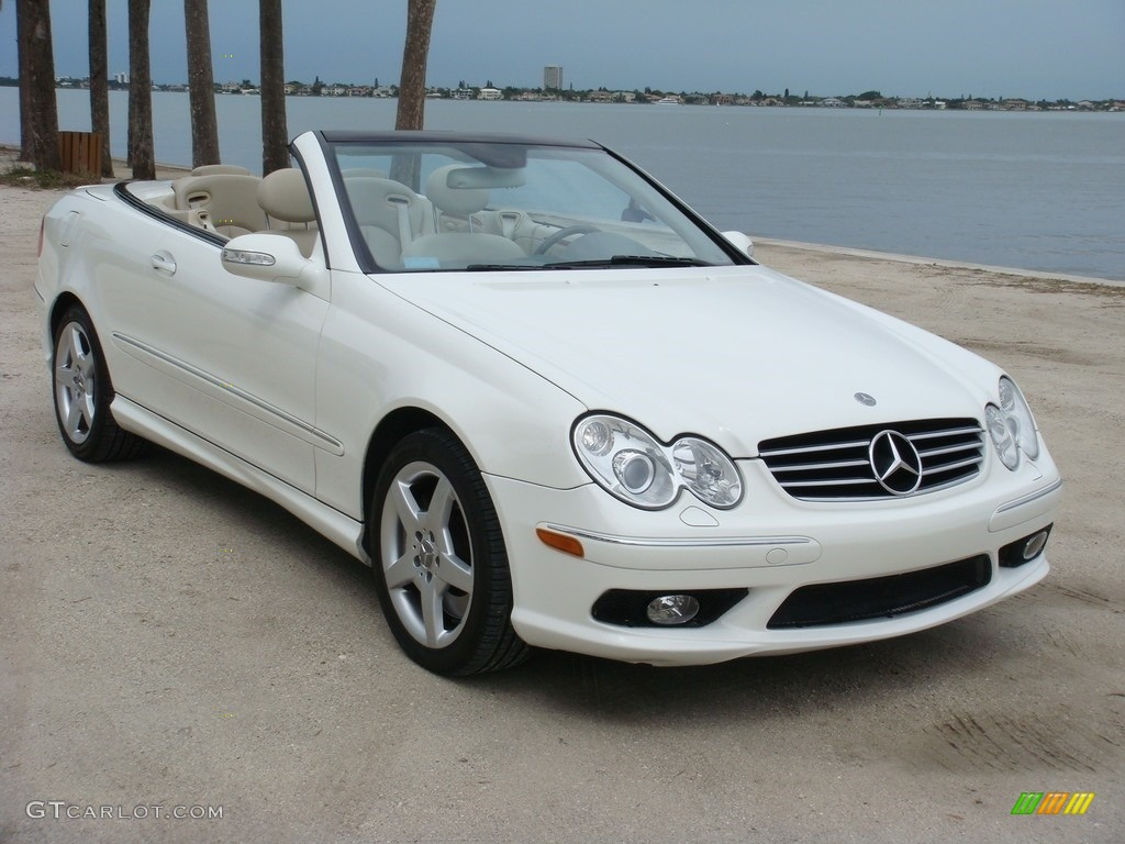 2005 alabaster white mercedes benz clk 500 cabriolet 111808998 car color galleries. Black Bedroom Furniture Sets. Home Design Ideas