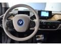 2016 BMW i3 Giga Cassia Natural Leather/Carum Spice Grey Wool Cloth Interior Dashboard Photo
