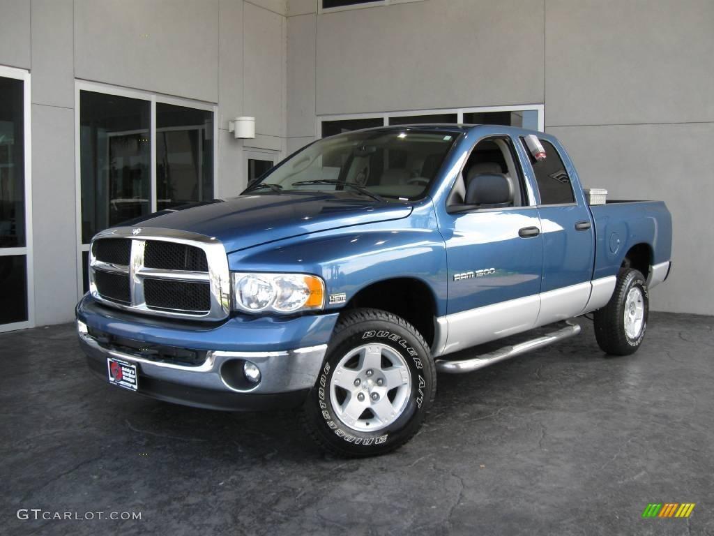 2004 atlantic blue pearl dodge ram 1500 slt quad cab 4x4 11160126 gtcarlot com car color