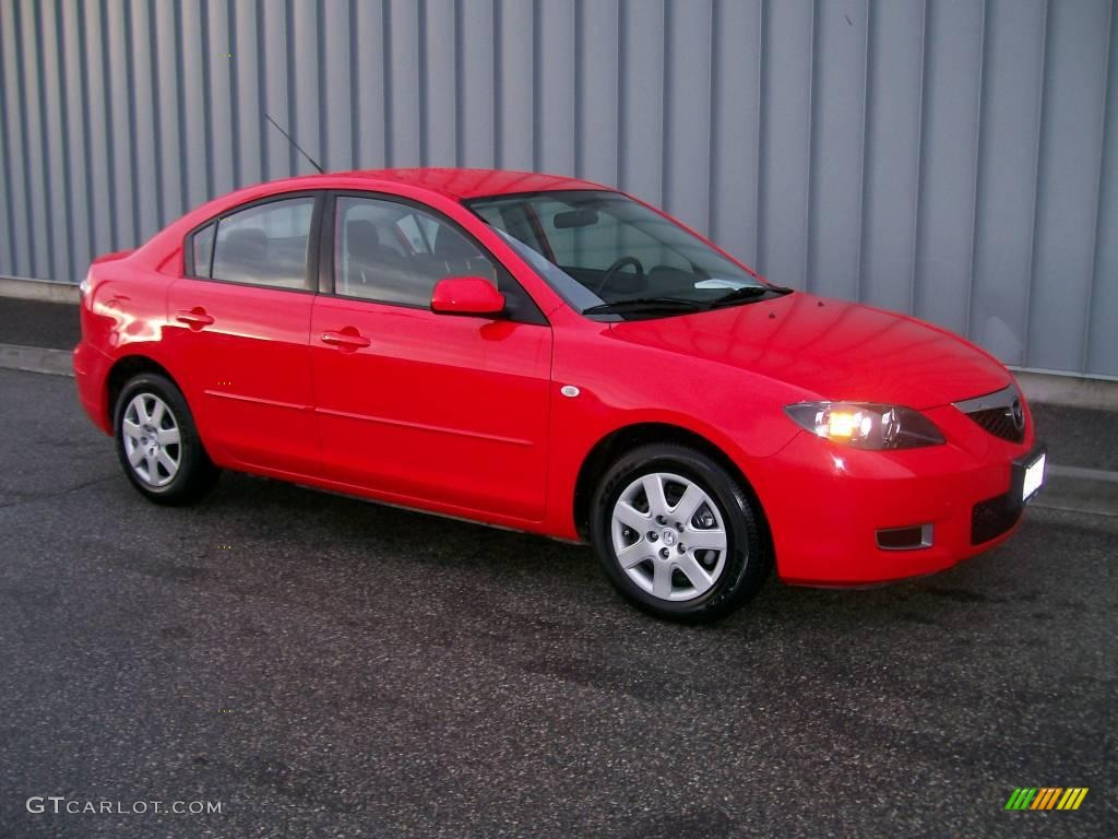 2008 true red mazda mazda3 i sport sedan 1106968 car color galleries. Black Bedroom Furniture Sets. Home Design Ideas