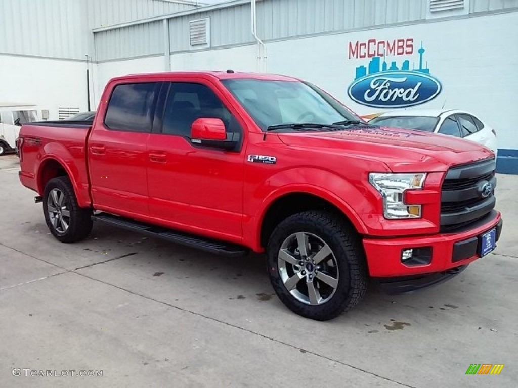 2016 F150 Lariat SuperCrew 4x4 - Race Red / Black photo #1