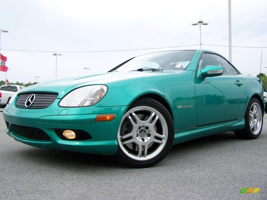 2002 laguna green mercedes benz slk 32 amg roadster 11159774 photo 4 car. Black Bedroom Furniture Sets. Home Design Ideas