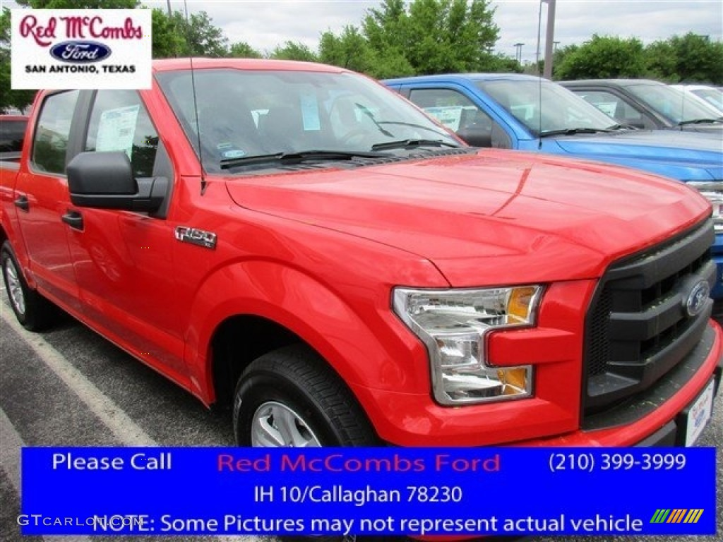 2016 F150 XL SuperCrew - Race Red / Medium Earth Gray photo #1