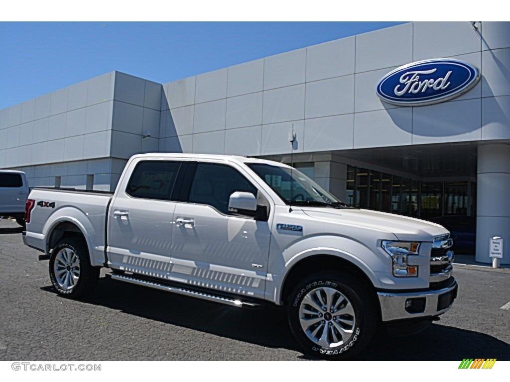 2016 white platinum ford f150 lariat supercrew 4x4 112033305 car color galleries. Black Bedroom Furniture Sets. Home Design Ideas