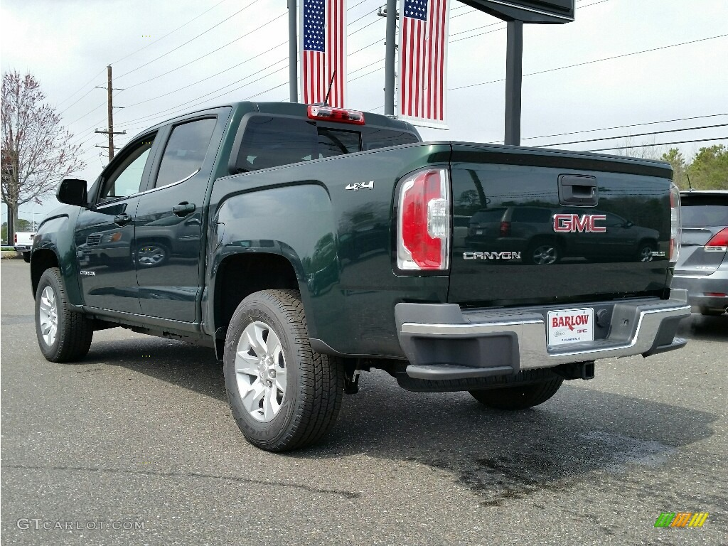 2016 emerald green metallic gmc canyon sle crew cab 4x4  112033110 photo  4
