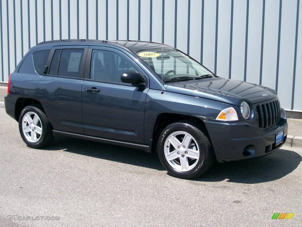 2007 steel blue metallic jeep compass sport 1085809 car color galleries. Black Bedroom Furniture Sets. Home Design Ideas