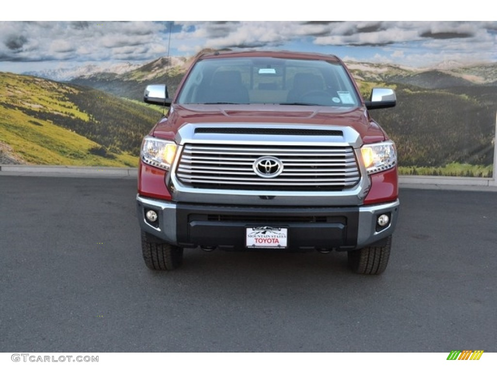 2016 Tundra Limited CrewMax 4x4 - Barcelona Red Metallic / Black photo #2