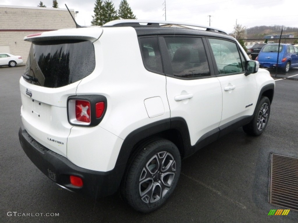 2016 Renegade Limited 4x4 - Alpine White / Bark Brown/Ski Grey photo #7