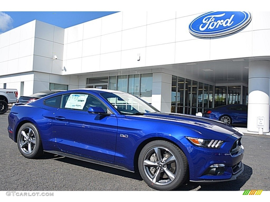 2016 Mustang GT Coupe - Deep Impact Blue Metallic / Ebony photo #1