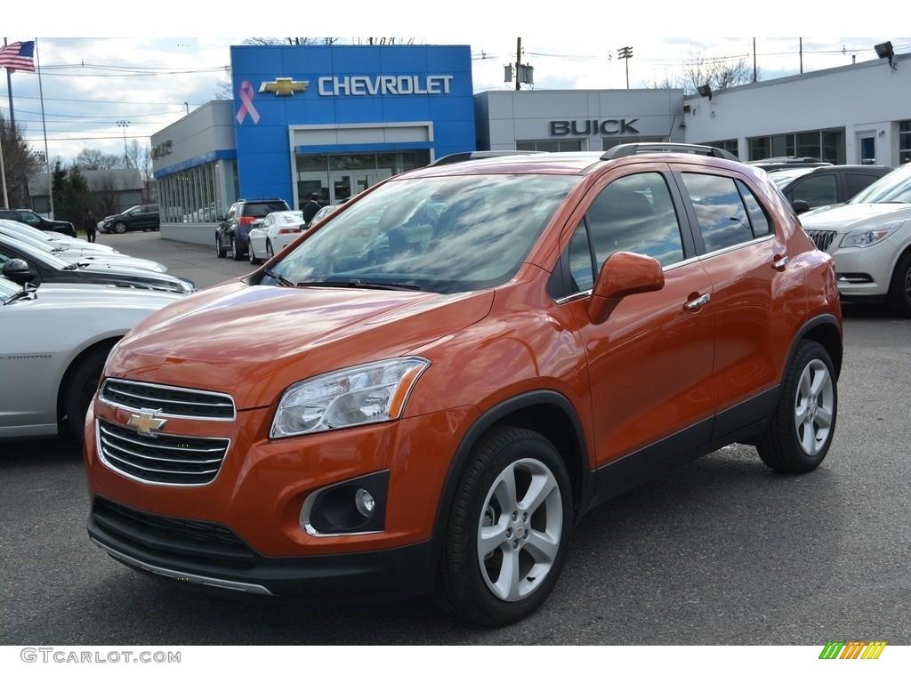 Orange Rock Metallic Chevrolet Trax Ltz Awd