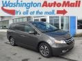 Modern Steel Metallic 2014 Honda Odyssey Touring Elite