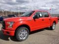 2016 Race Red Ford F150 XL SuperCrew 4x4  photo #8
