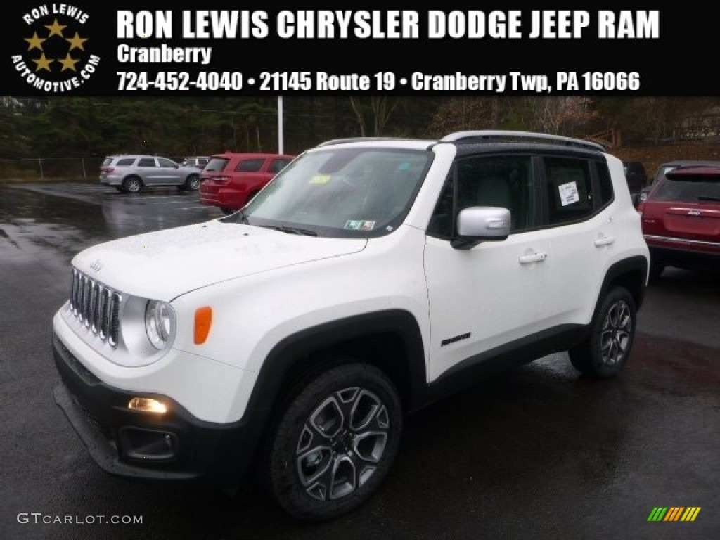 Alpine White Jeep Renegade