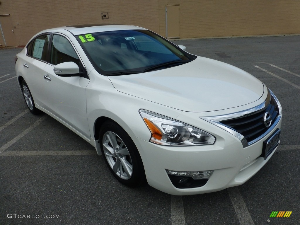 2015 pearl white nissan altima 2 5 sl 112208339 car color galleries. Black Bedroom Furniture Sets. Home Design Ideas