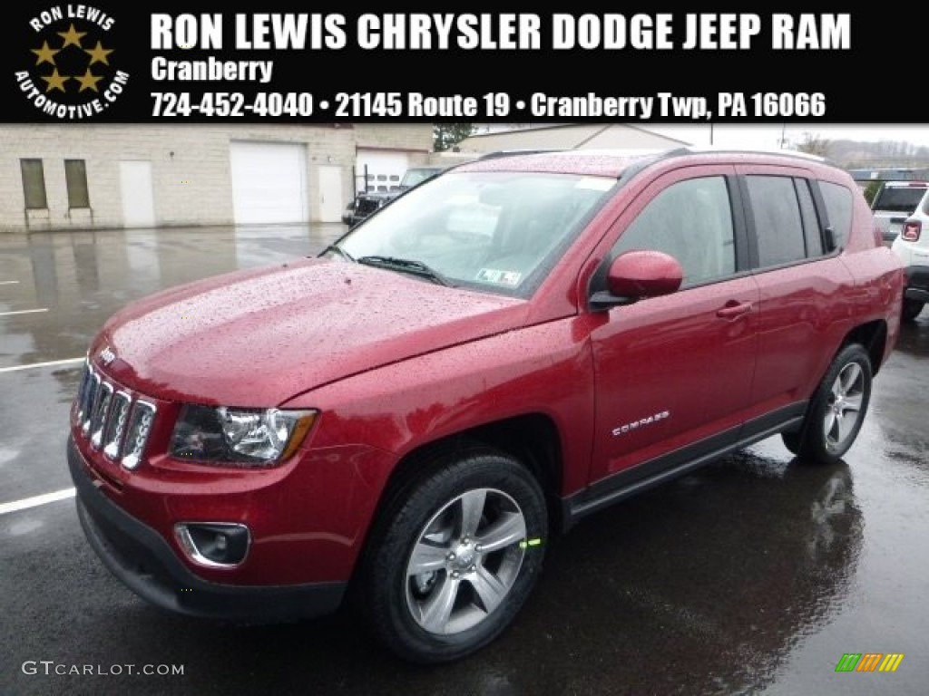 2016 deep cherry red crystal pearl jeep compass latitude - 2016 jeep compass interior lights ...