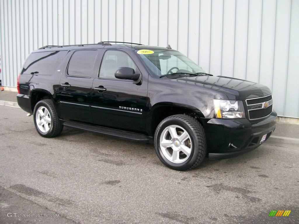 2007 black chevrolet suburban 1500 ltz 4x4 1085799. Black Bedroom Furniture Sets. Home Design Ideas