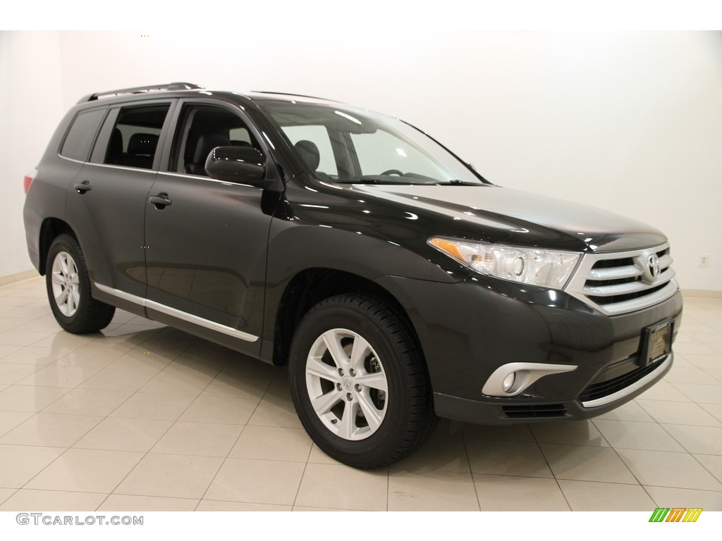 2013 black toyota highlander se 4wd 112229396 car color galleries. Black Bedroom Furniture Sets. Home Design Ideas