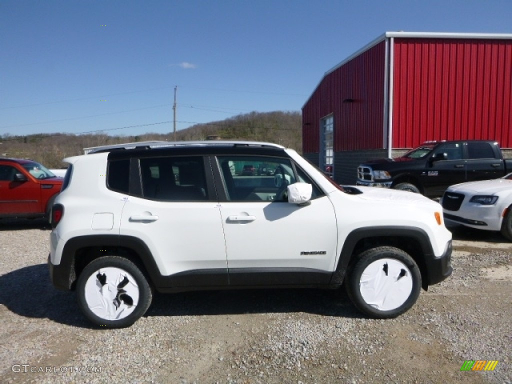2016 Renegade Limited 4x4 - Alpine White / Bark Brown/Ski Grey photo #8